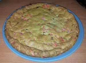 cookie géant aux pralines roses