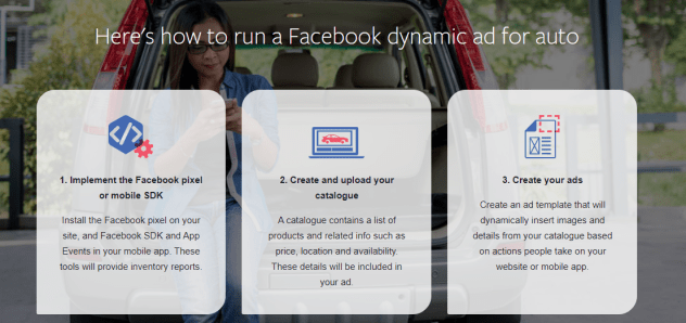 Facebook dynamic ads for auto