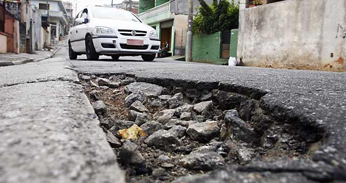 Resultado de imagem para BURACOS nas ruas de SP