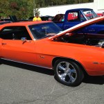Classic orange Chevrolet Camaro at the 3rd annual Disabled American Veteran's car show at Waynesville Chevrolet Buick 01