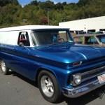 blue 1964 chevy panel truck waynesville chevy 3rd DAV classic car show