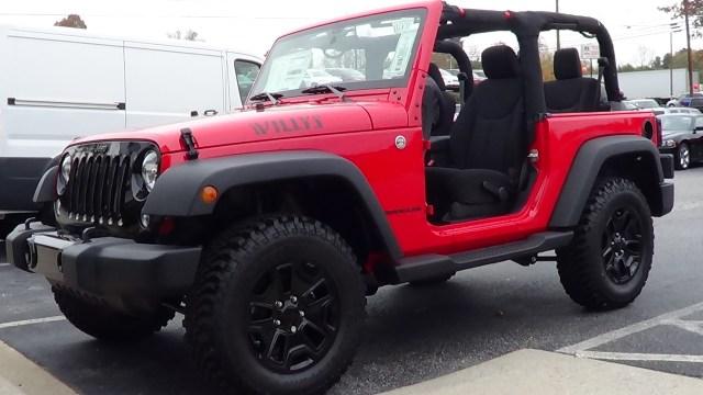 2014 Jeep Wrangler Sport 4x4 Willys Wheeler Edition profile shot