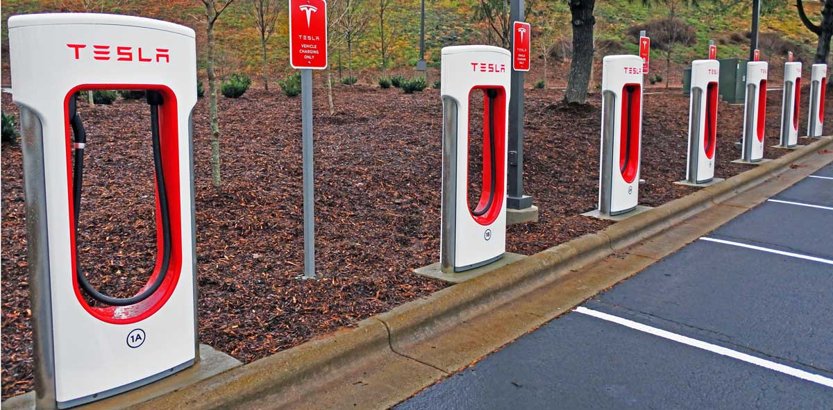 Tesla Supercharger Station Comes To The Asheville Outlets