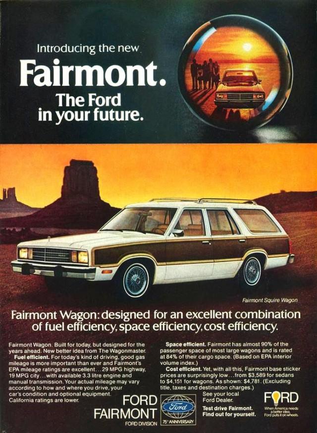 Ford Fairmont wagon ad