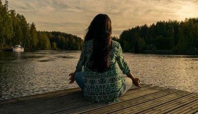 women doing yoga in nature