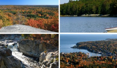 4 fun camping destinations in maine, picture of 4 different camping locations in maine