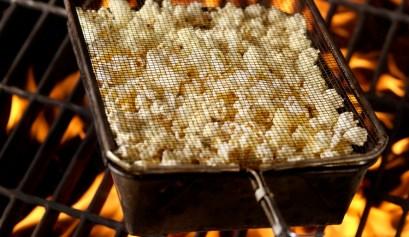 Popcorn popping on an open fire
