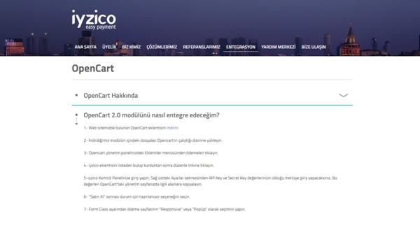 opencart-iyzico-modul-yukleme
