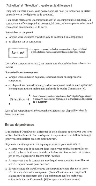 Le manuel d'OpenDoc
