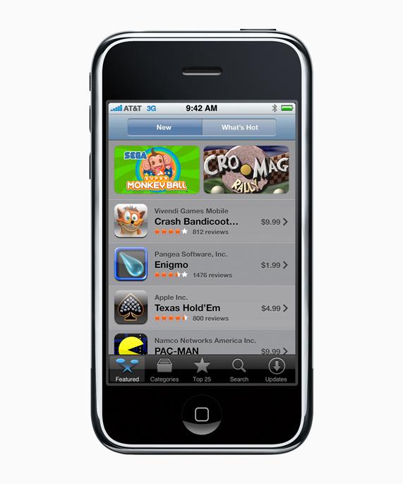 Le premier App Store - Image Apple