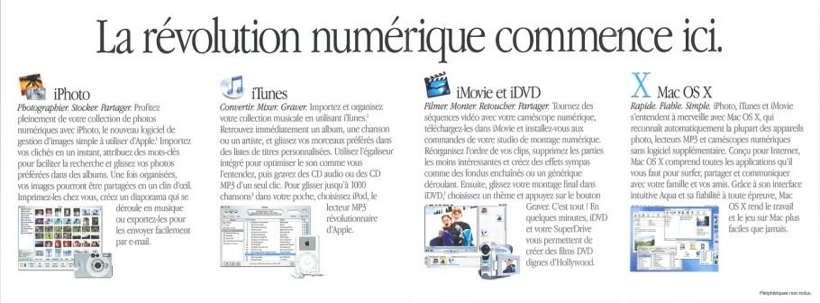 La brochure de l'iMac G4