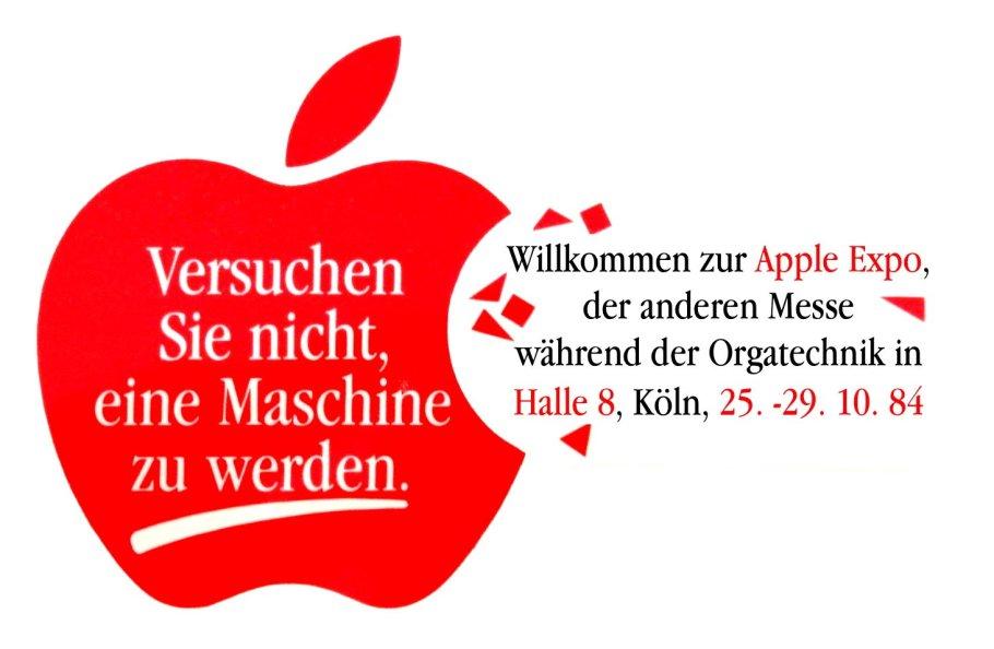 Bienvenue à l'Apple Expo, l'autre salon de l'Orgatechnik, Cologne 1984