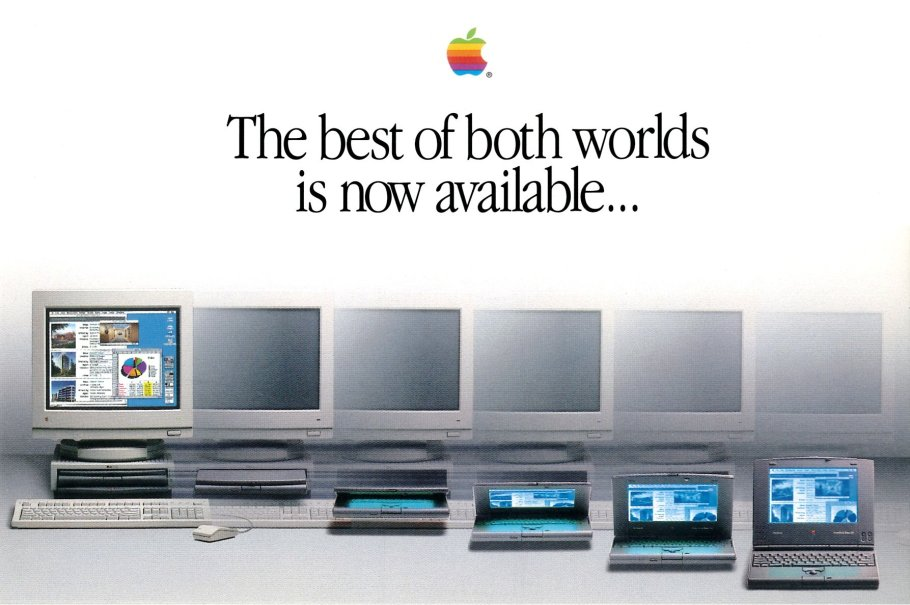 Apple Macintosh PowerBook Duo postcard