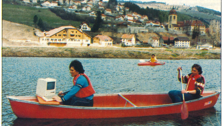 Macintosh est sur un bateau