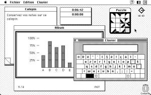 Les Accessoires de bureau du Macintosh