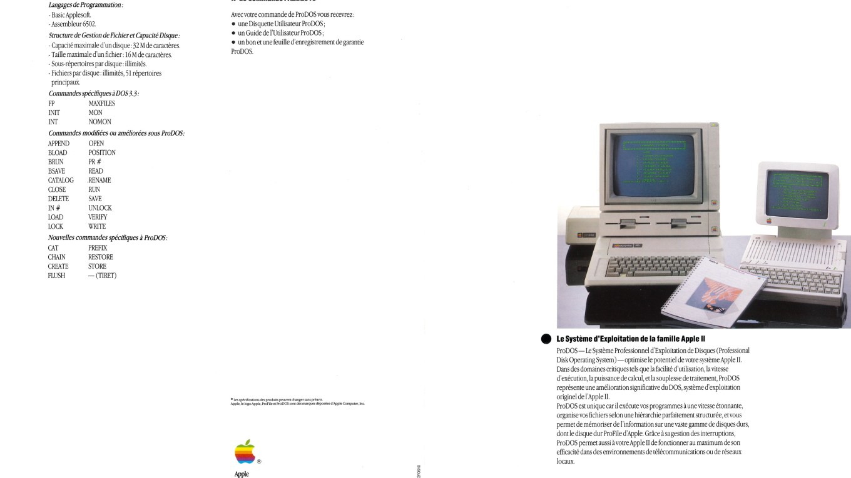 Apple ProDOS brochure française