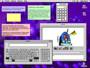 Les Accessoires de bureau de Mac OS 9