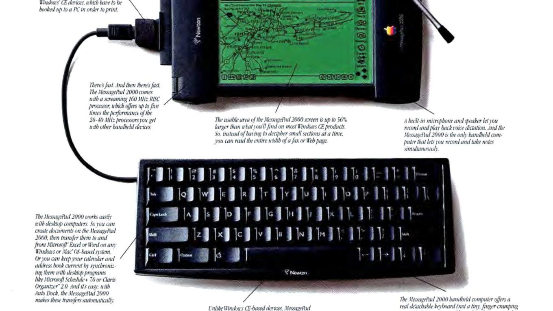 1997 MessagePad 2000 Apple Newton Ad