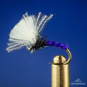 Purple Biot CDC Midge Emerger