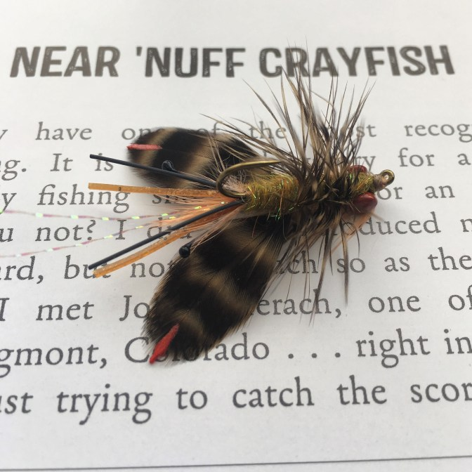 This was a tough decision for me. I chose this fly because of the ammount of work that went into it. Everything from painting the lead eyes with enamel, to melting the mono eyes my self. I was pretty proud of this fly upon completing.
