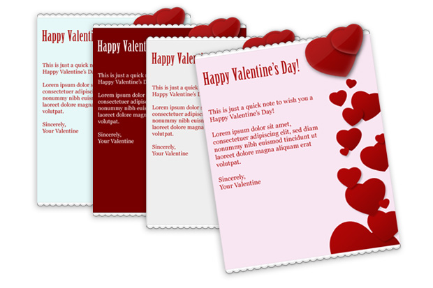 Valentines Day Web Form And Email Templates Email