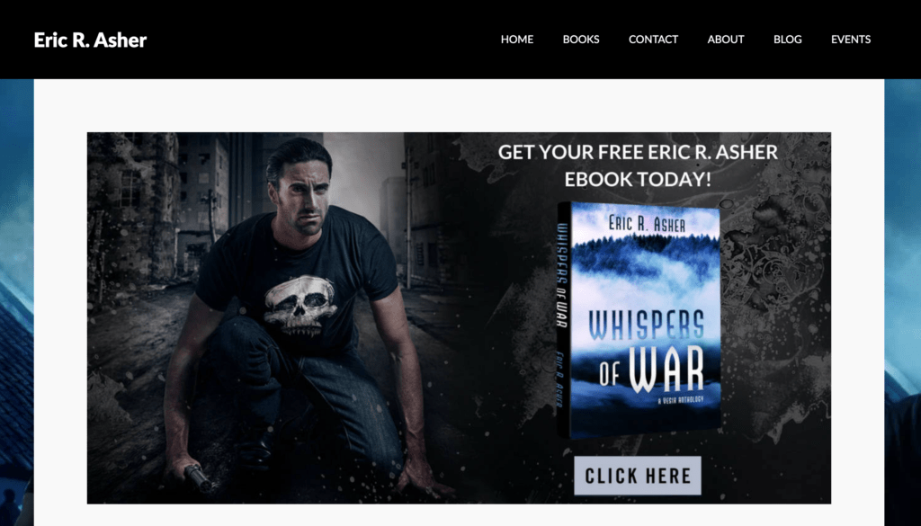 Eric R. Asher landing page for a free book
