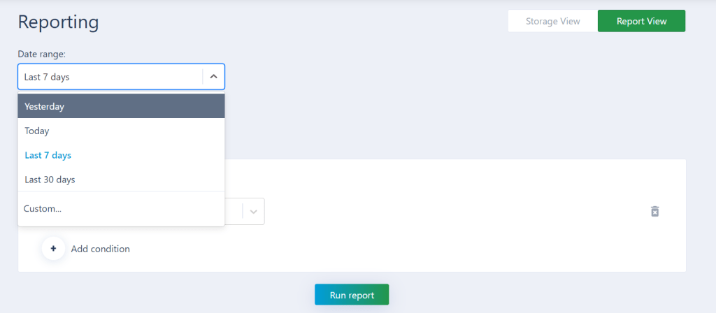 Select the date range in AXDRAFT