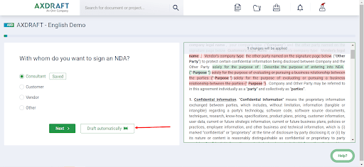 AXDRAFT draft second document