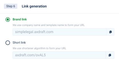 AXDRAFT QuickDocs link generation