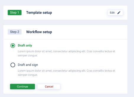 AXDRAFT QuickDocs workflow setup