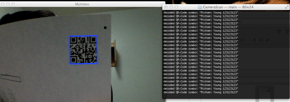 real time qr code    bar code detection with webcam using