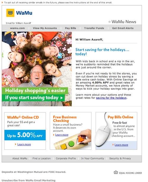 WaMu News | The holidays start today.