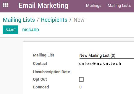 Odoo Mailing list