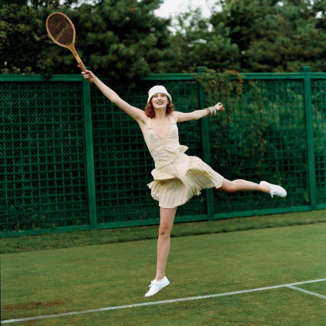 @voguemagazine:It's #Wimbledon time! #TBT @misskarenelson Photo by @arthurelgort, styled by @therealgracecoddington, Vogue, November 2003.