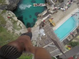 saut 25 mètre plongeon