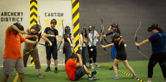 archery tag pris pour cible