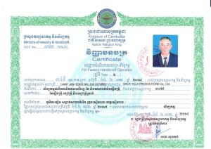 Baca Villa Certificate of Ministry of Industry