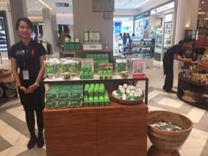 Vitchika selling Moringa products Baca-Villa at DFS