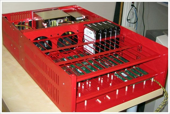 Backblaze Server Partial Assembly