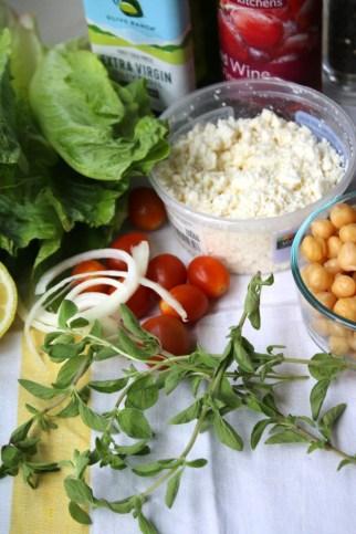 greek salad in a jar fresh herbs recipe