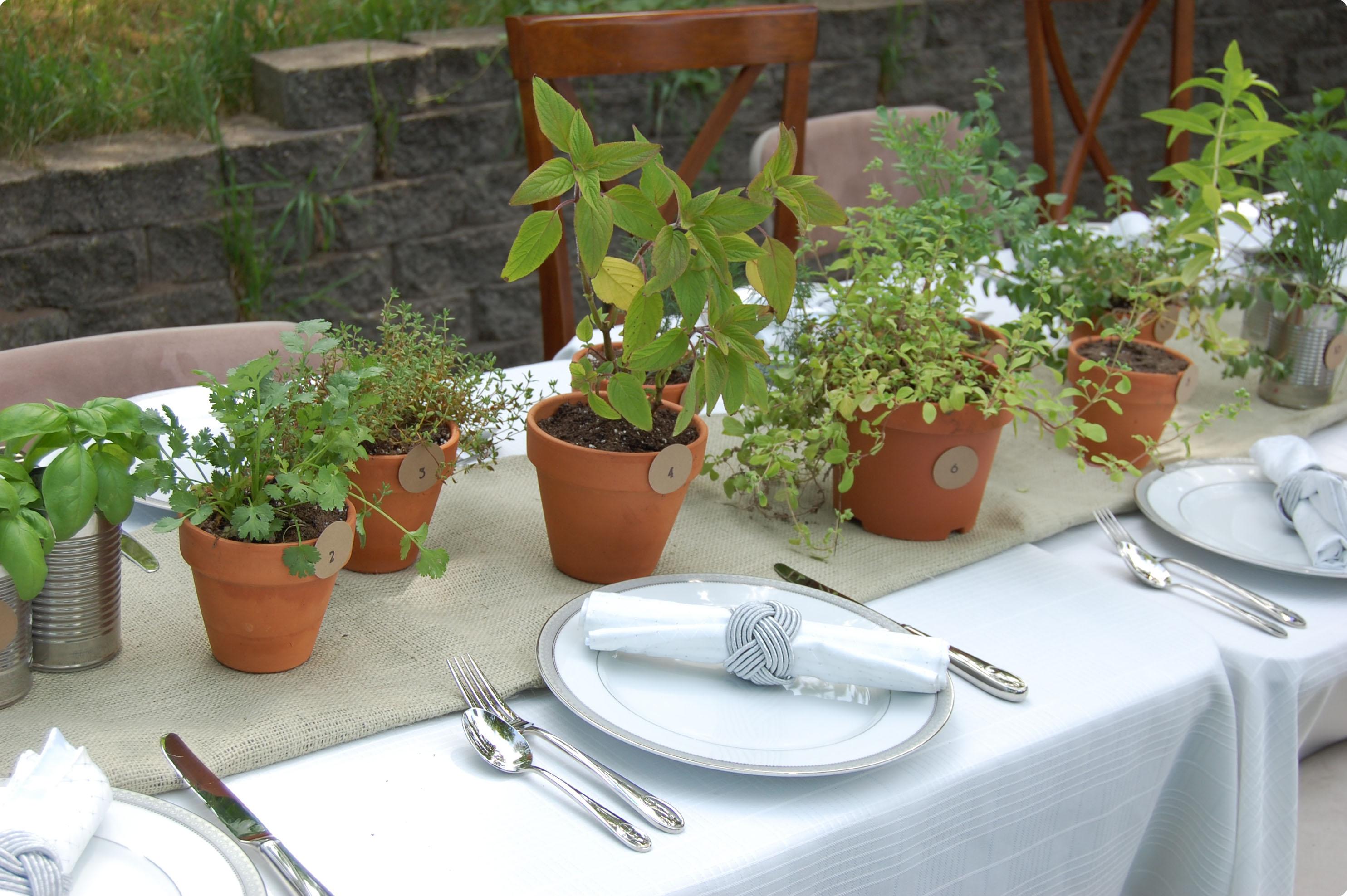 herb centerpiece table diy