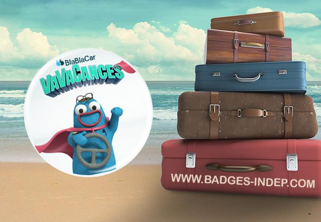 Un badge professionnel pour faire la publicité d'un service ou marque