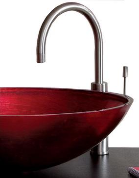 Lavabo in vetro rosso veneziano partic.Scont