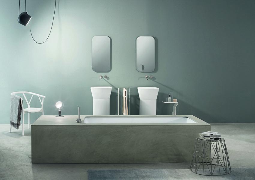Vasca Da Bagno Makro : Wave la vasca in ecocemento by makro bagno italiano
