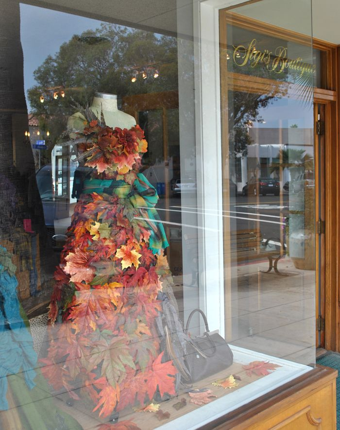 Dress made out of Fall Leaves