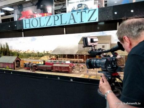 """Diorama """"Holzplatz"""" von Michel van Cleemputte"""