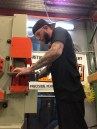 Austin Weiss uses a Baileigh Hydraulic Ironworker