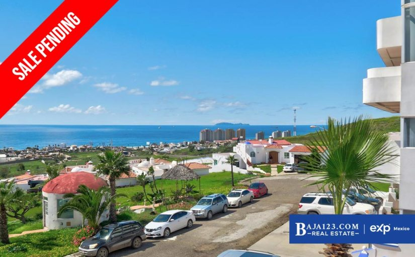 SALE PENDING – Ocean View Condo For Sale in Costa de Oro, Rosarito Beach – $159,000 USD