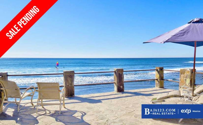 SALE PENDING – Oceanfront Home For Sale in Campo Rodriguez, Playas de Rosarito – $193,700 USD