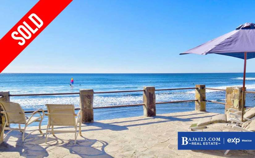 SOLD – Oceanfront Home For Sale in Campo Rodriguez, Playas de Rosarito – $193,700 USD